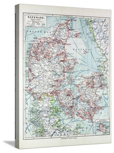 Map of Denmark 1899--Stretched Canvas Print
