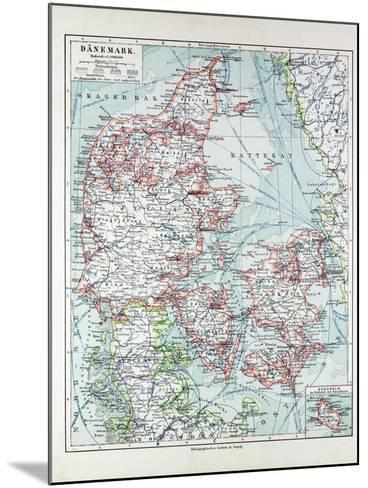 Map of Denmark 1899--Mounted Giclee Print