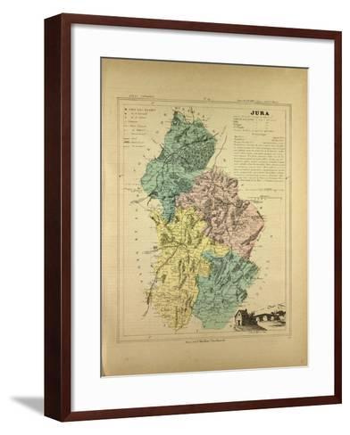 Map of Jura France--Framed Art Print