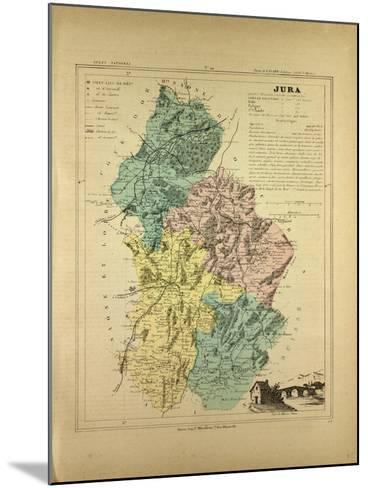 Map of Jura France--Mounted Giclee Print