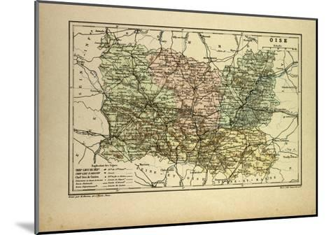 Map of Oise France--Mounted Giclee Print