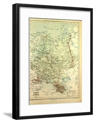 Map of Russia and Romania--Framed Art Print