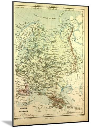 Map of Russia and Romania--Mounted Giclee Print