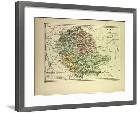 Map of Tarn France--Framed Art Print
