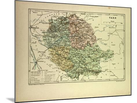 Map of Tarn France--Mounted Giclee Print