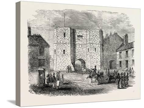 Alnwick Castle Gateway--Stretched Canvas Print