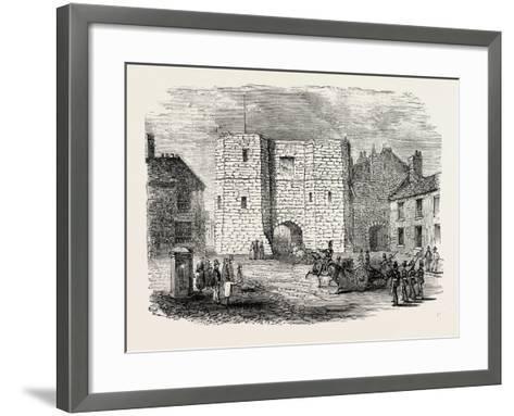 Alnwick Castle Gateway--Framed Art Print