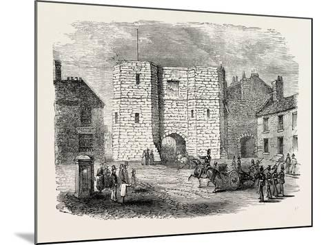 Alnwick Castle Gateway--Mounted Giclee Print