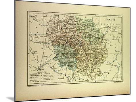 Map of Creuse France--Mounted Giclee Print