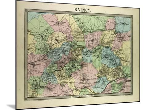 Map of Raincy France--Mounted Giclee Print