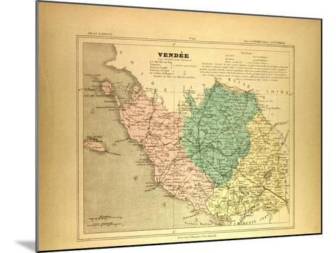 Map of Vendée France--Mounted Giclee Print