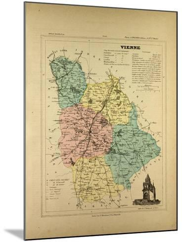 Map of Vienne France--Mounted Giclee Print