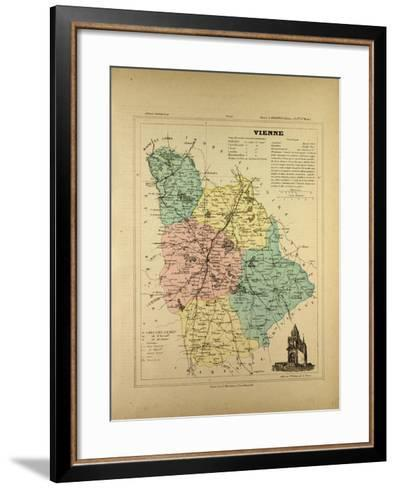 Map of Vienne France--Framed Art Print