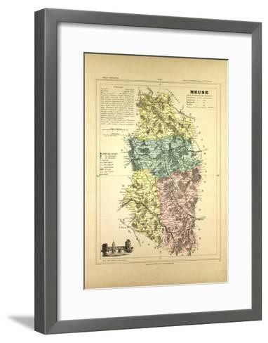 Map of Meuse France--Framed Art Print