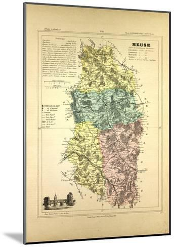 Map of Meuse France--Mounted Giclee Print