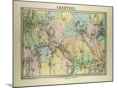 Map of Chartres France--Mounted Giclee Print