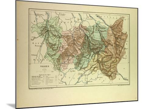 Map of Vosges France--Mounted Giclee Print