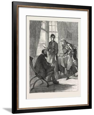 The Village Comedy, 1876--Framed Art Print