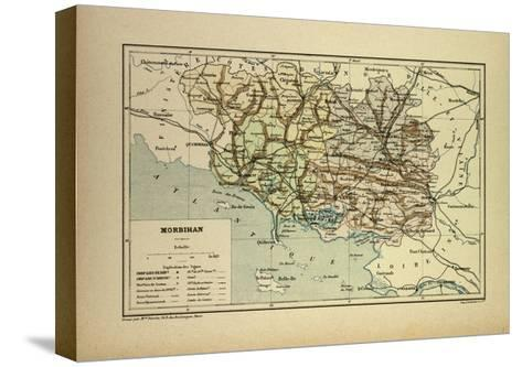 Map of Morbihan France--Stretched Canvas Print