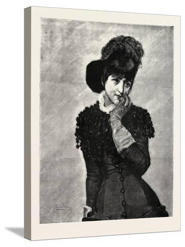 Prose, Lady, Fashion, 1882--Stretched Canvas Print
