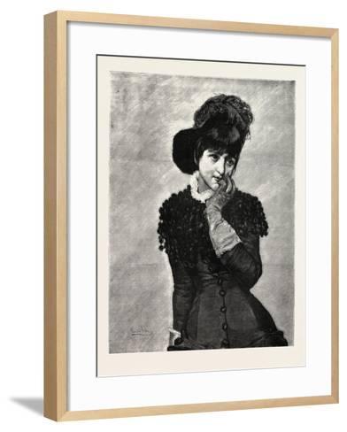 Prose, Lady, Fashion, 1882--Framed Art Print