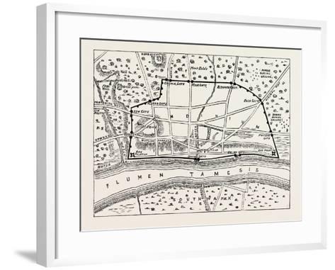 Plan of Roman London--Framed Art Print