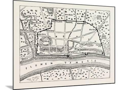 Plan of Roman London--Mounted Giclee Print