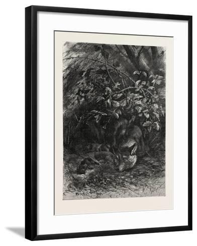 The Wolf in its Lair, 1882--Framed Art Print