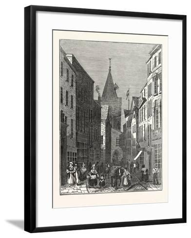 High Street, Guernsey--Framed Art Print