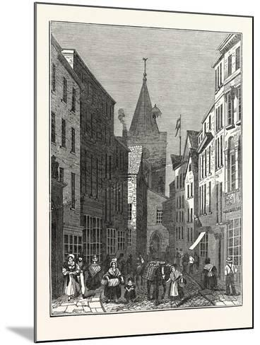 High Street, Guernsey--Mounted Giclee Print