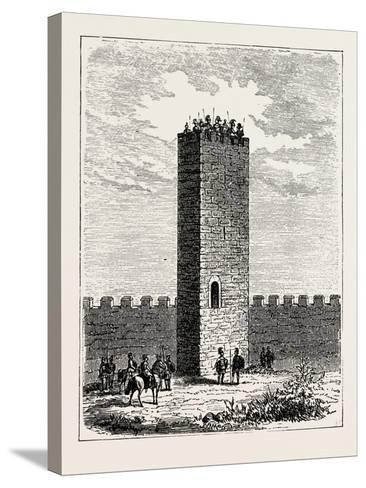 Roman Watch-Tower--Stretched Canvas Print