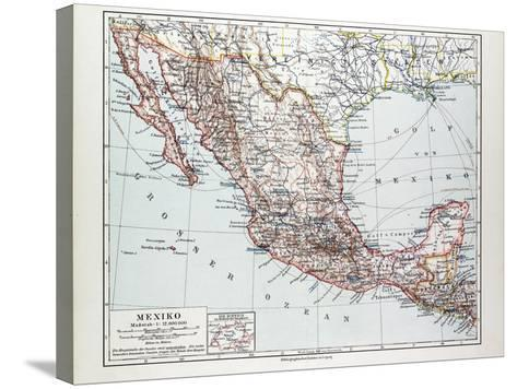 Map of Mexiko 1899--Stretched Canvas Print