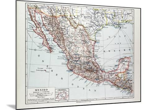 Map of Mexiko 1899--Mounted Giclee Print