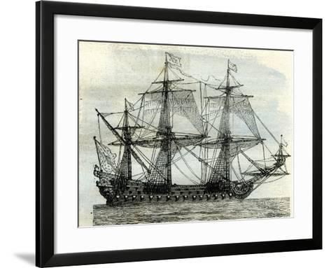 Ship Le Soleil Royal UK--Framed Art Print