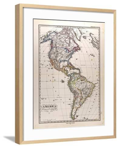 Map of America, 1872--Framed Art Print
