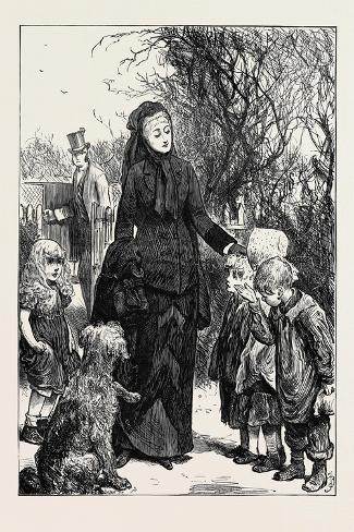 The Rich Widow 1880--Stretched Canvas Print