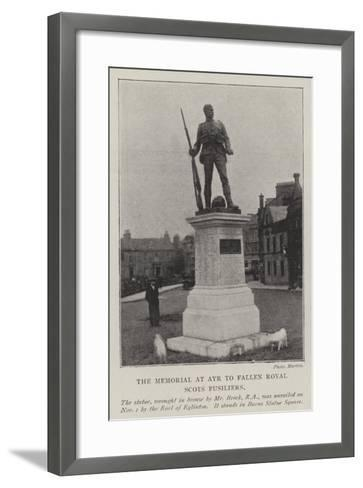 The Memorial at Ayr to Fallen Royal Scots Fusiliers--Framed Art Print