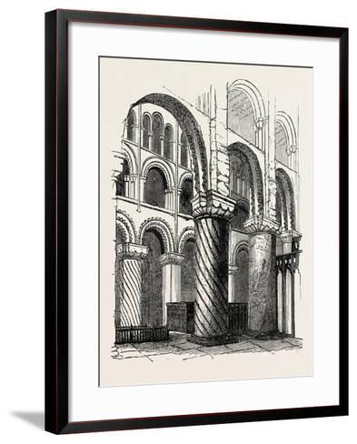 Waltham Abbey--Framed Art Print