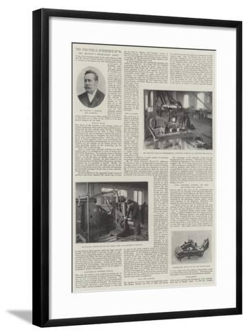 The Industrial Enterprise of 1898, Mr Hooley's Hydraulic Joint--Framed Art Print