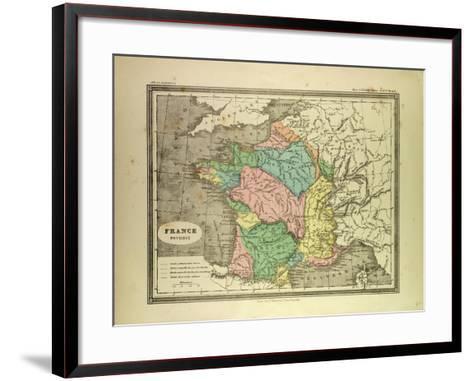 Map of France--Framed Art Print