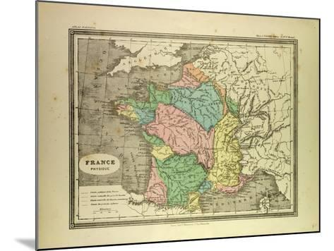 Map of France--Mounted Giclee Print