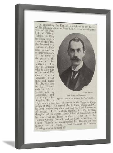 The Earl of Denbigh, Special Envoy of the King at the Pope's Jubilee--Framed Art Print