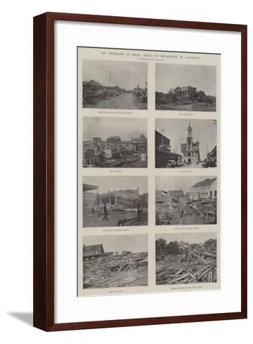 The Hurricane in Texas, Scenes of Devastation in Galveston--Framed Art Print