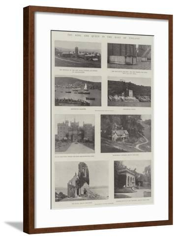 The King and Queen in the West of England--Framed Art Print