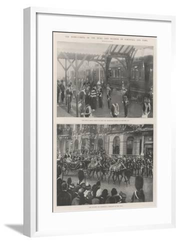 The Home-Coming of the Duke and Duchess of Cornwall and York--Framed Art Print
