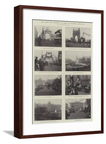 The Duke and Duchess of York at Salford, 25 March--Framed Art Print