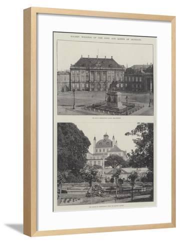 Golden Wedding of the King and Queen of Denmark--Framed Art Print