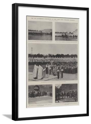 The Two Hundredth Anniversary of the Czar's Own Cuirassier Regiment--Framed Art Print
