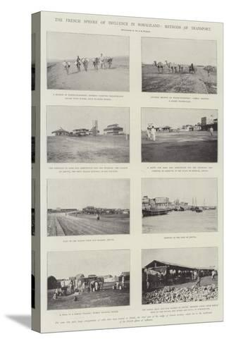 The French Sphere of Influence in Somaliland, Methods of Transport--Stretched Canvas Print