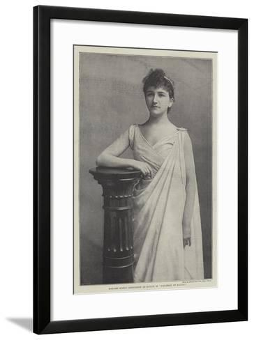 Madame Sigrid Arnoldson as Baucis in Philemon Et Baucis--Framed Art Print
